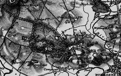 Old map of Badbury Rings in 1895