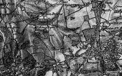 Old map of Tadworth in 1896
