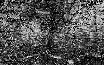 Old map of Afon Pennant in 1898