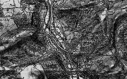 Old map of Taffs Well in 1898