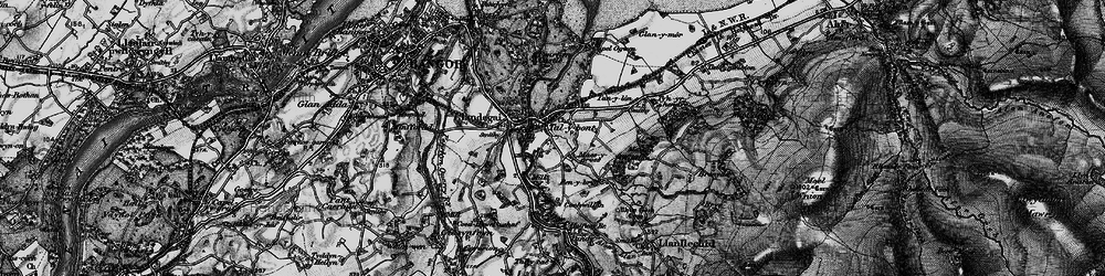 Old map of Aber-Ogwen in 1899