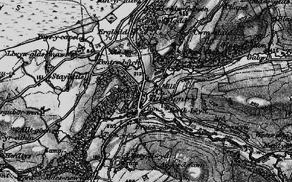 Old map of Tal-y-bont in 1899