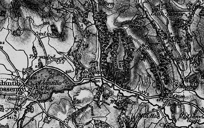Old map of Ash Grove in 1896
