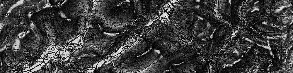 Old map of Tal-y-llyn in 1899