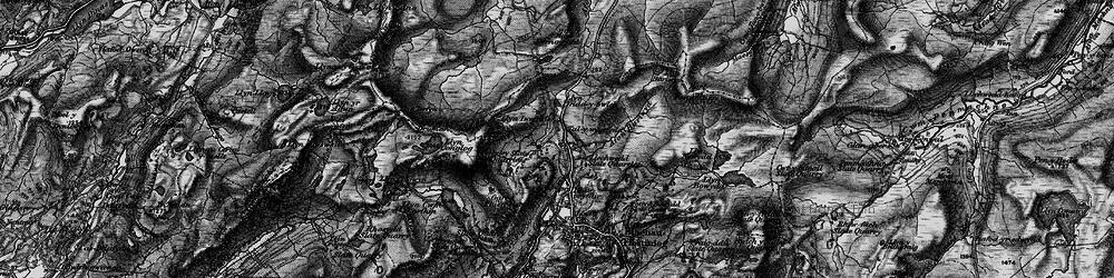 Old map of Allt y Ceffylau in 1899