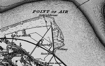 Old map of Talacre in 1896