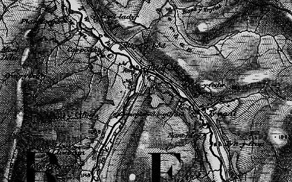 Old map of Afon Fechan in 1898