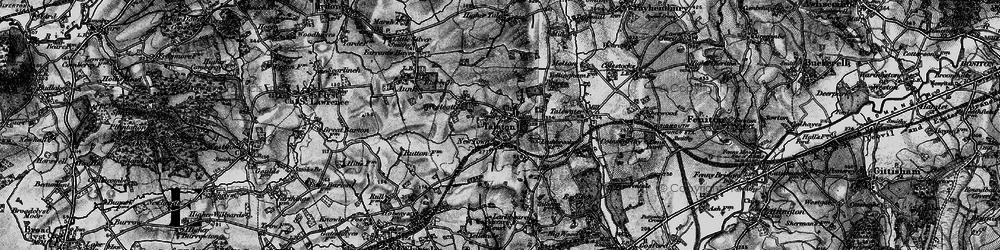 Old map of Talaton in 1898