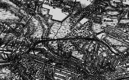Old map of Talbot Woods in 1895