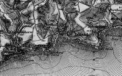 Old map of Talland Bay in 1896