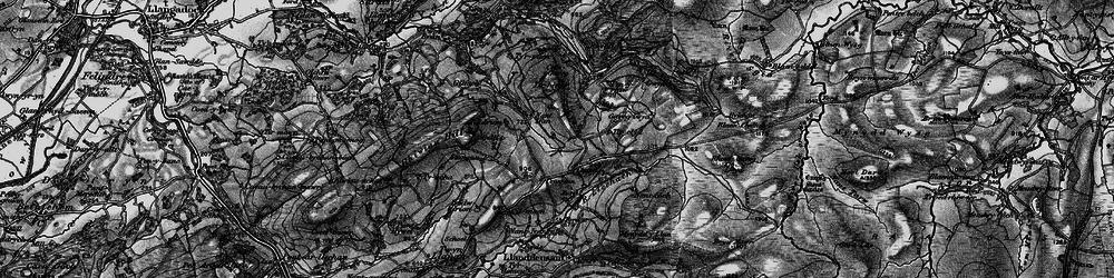 Old map of Tirpaun in 1898