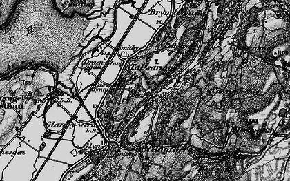 Old map of Talsarnau in 1899