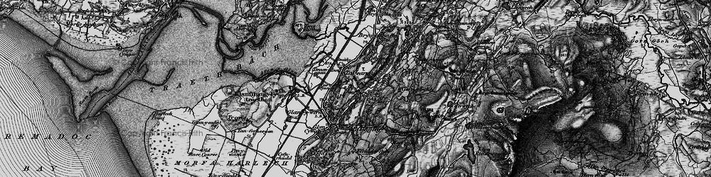 Old map of Talsarnau in 1899