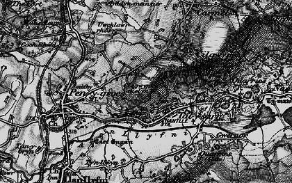Old map of Afon Llyfni in 1899