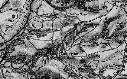 Old map of Ashleigh Barton in 1896