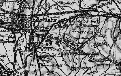 Old map of Tamworth in 1899