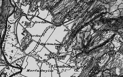 Old map of Ynys Fâch in 1899