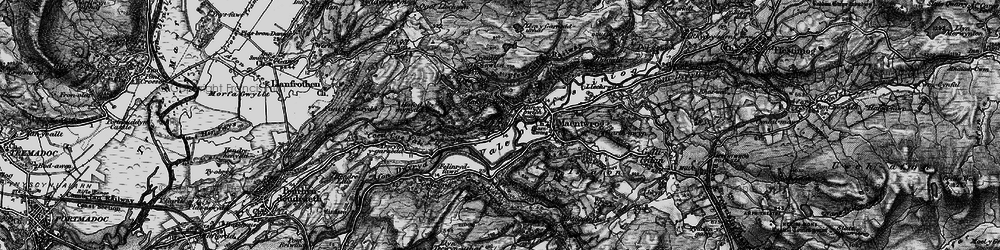 Old map of Tan-y-Bwlch in 1899