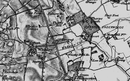 Old map of Whixley Field Ho in 1898