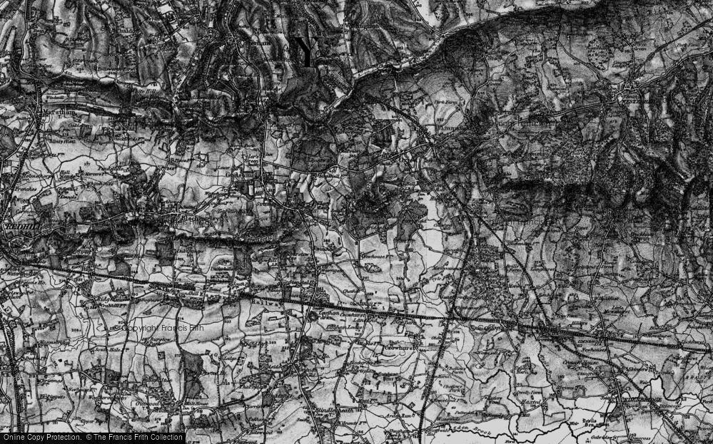 Old Map of Tandridge, 1895 in 1895