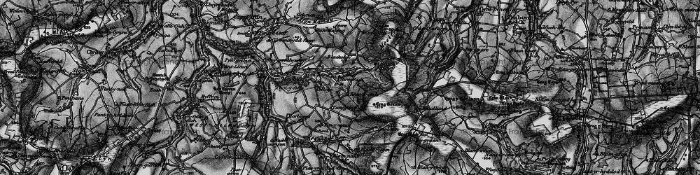 Old map of Afon Barddu in 1898