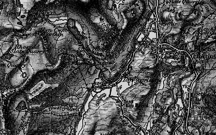 Old map of Afon Stwlan in 1899