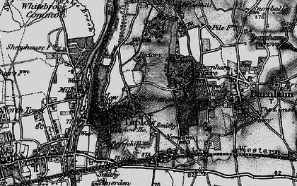 Old map of Taplow in 1896
