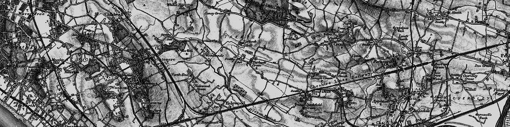 Old map of Tarbock Green in 1896