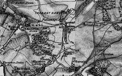 Old map of Ashley Wood in 1895