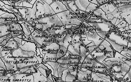 Old map of Baker Way in 1896