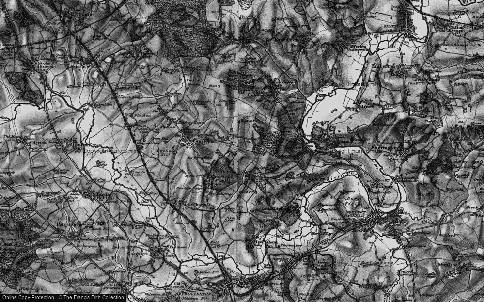 Old Map of Tathall End, 1896 in 1896