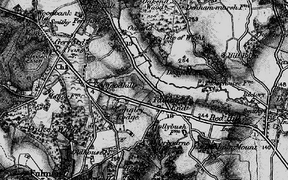 Old map of Tatling End in 1896