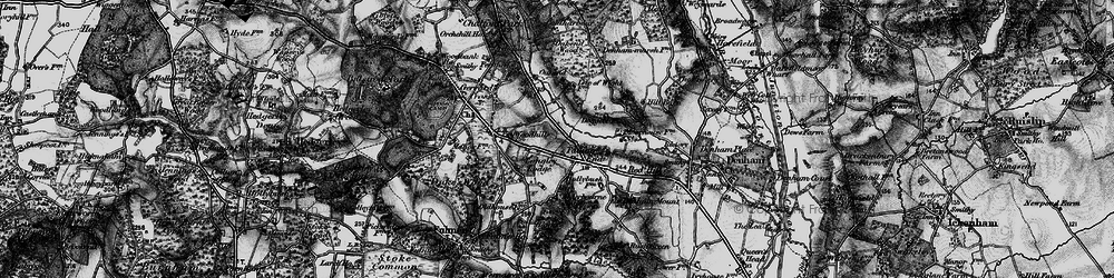 Old map of Alderbourne Manor in 1896