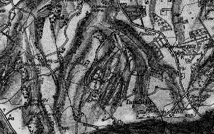 Old map of Tatsfield in 1895