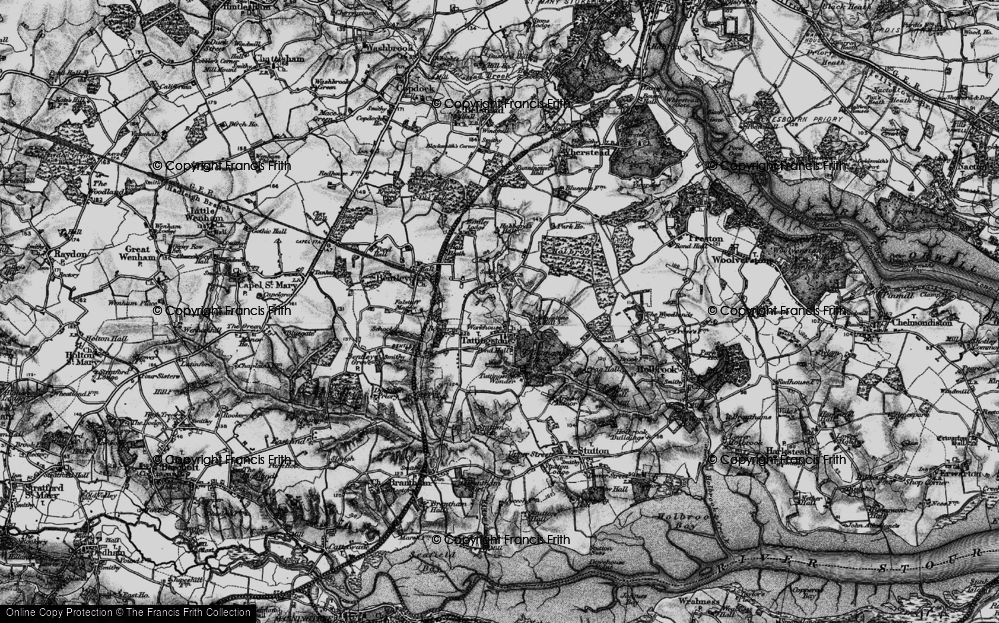 Old Map of Historic Map covering Alton Water (Reservoir) in 1896