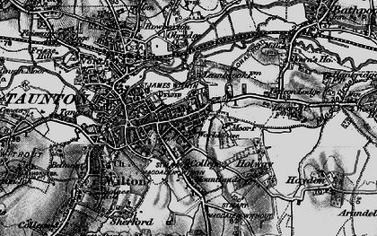 Old map of Taunton in 1898