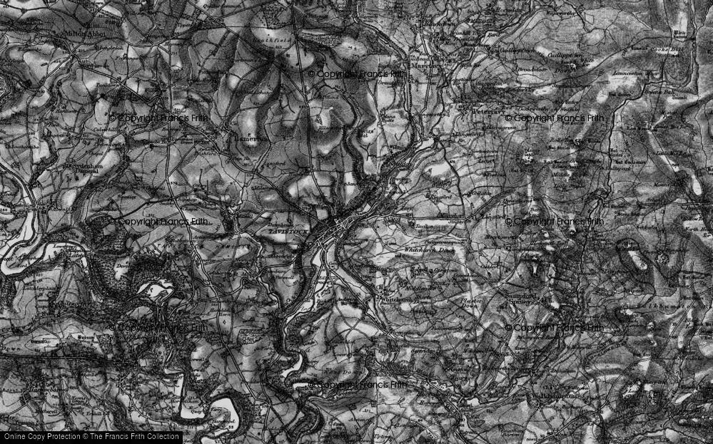 Old Map of Tavistock, 1896 in 1896