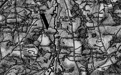 Old map of Wickington in 1898