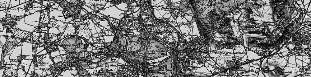 Old map of Teddington in 1896