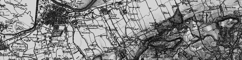 Old map of Teesville in 1898