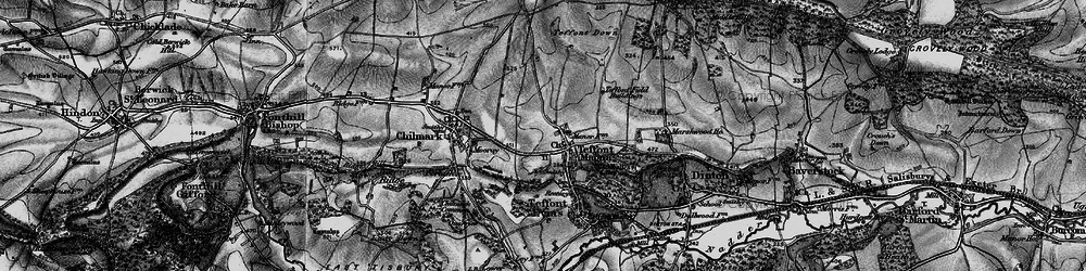 Old map of Teffont Magna in 1895