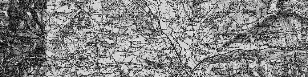 Old map of Teigngrace in 1898