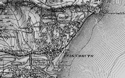 Old map of Teignmouth in 1898