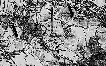 Old map of Temple Fortune in 1896