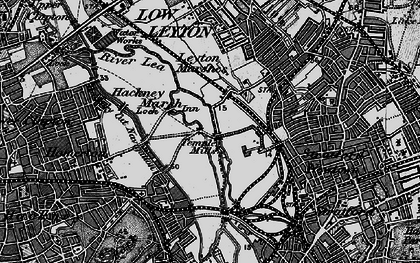 Old map of Temple Mills in 1896