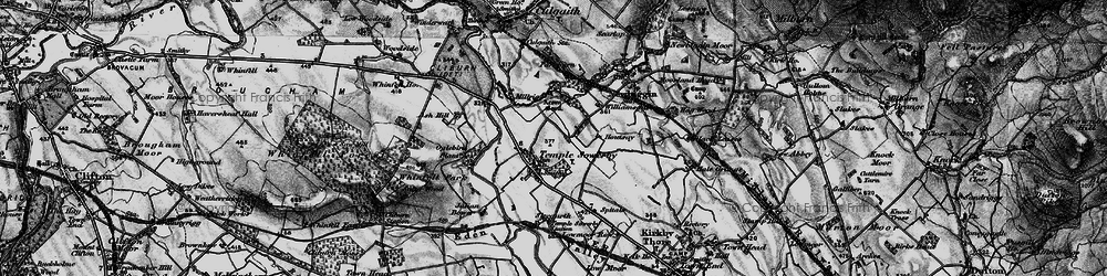Old map of Acorn Bank in 1897
