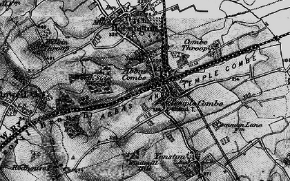 Old map of Templecombe in 1898
