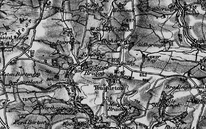 Old map of West Bradley in 1898