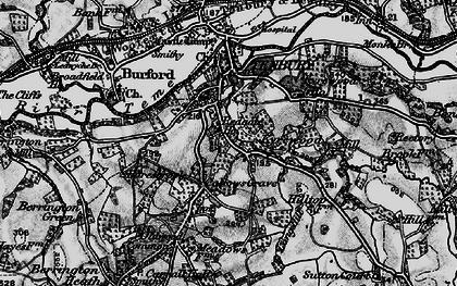 Old map of Tenbury Wells in 1899