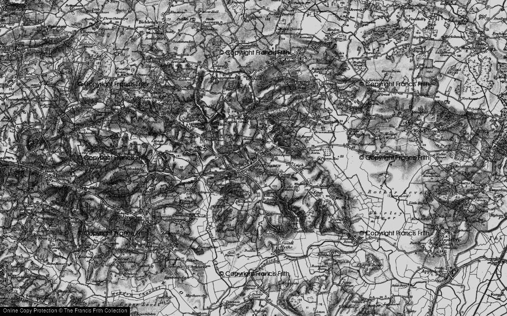 Old Map of Tenterden, 1895 in 1895
